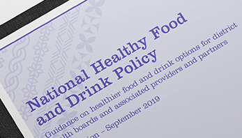 MOH National Healthy Food and Drink Policy
