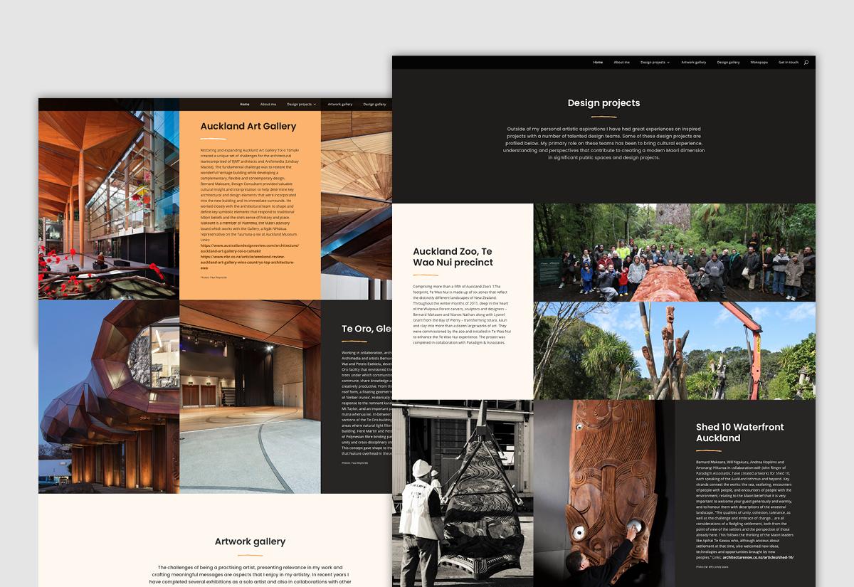 Bernard Website pages
