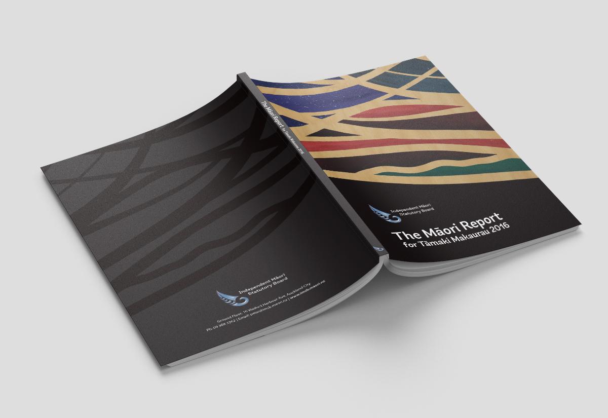 Māori Report Cover open
