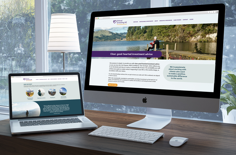 Ethical Investment NZ website concept
